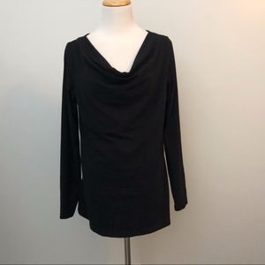 Standard James Perse Size 3 Shirt Black Cowl Neck